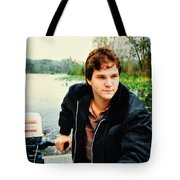 Dave And His Boat Tote Bag