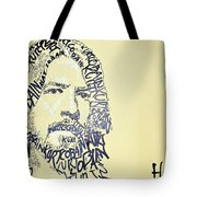 Dave Grohl Word Portrait With The Word Kurt Cobain Tote Bag