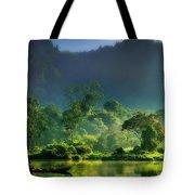 Dave Ruberto - Wonderful Lake Green Nature Landscape  Tote Bag