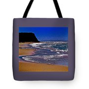 Davenport Landing Beach Purple Tote Bag