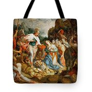 David And Abigail Tote Bag