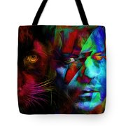 David Bowie - Cat People  Tote Bag
