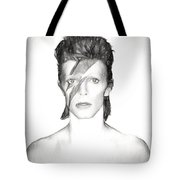 David Bowie Charcoal  Tote Bag