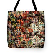 David Bowie Collage Mosaic Tote Bag