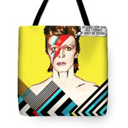 David Bowie Pop Art Tote Bag