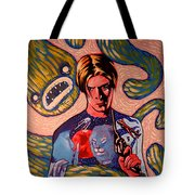 David Bowie Song Reference Painting Tote Bag