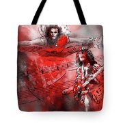 David Lee Roth And Eddie Van Halen Jump Tote Bag