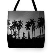 David With Palms Tote Bag
