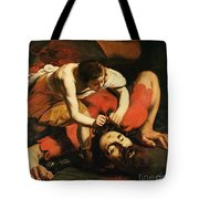 David With The Head Of Goliath Tote Bag by Michelangelo Caravaggio
