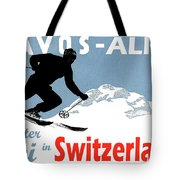 Davos, Alps, Mountains, Switzerland, Winter, Ski, Sport Tote Bag