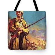 Davy Crockett  Hero Of The Alamo Tote Bag
