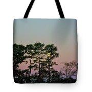 Dawn And Moon Setting - Virginia Tote Bag