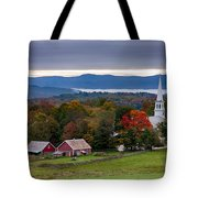 dawn arrives at sleepy Peacham Vermont Tote Bag
