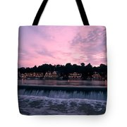 Dawn At Boathouse Row Tote Bag by Bill Cannon