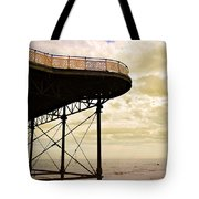 Dawn At Colwyn Bay Victoria Pier Conwy North Wales Uk  Tote Bag