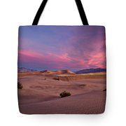 Dawn At Mesquite Flats #2 - Death Valley Tote Bag