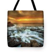 Dawn At Porthcawl Tote Bag