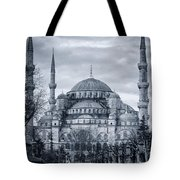 Dawn At The Blue Mosque Tote Bag