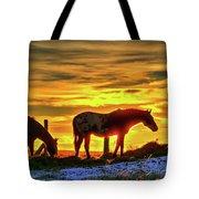 Dawn Horses Tote Bag