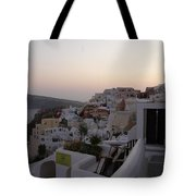 Dawn In Oia Santorini Greece Tote Bag