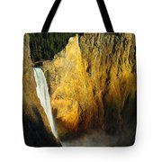 Dawn, Lower Falls Of The Yellowstone Tote Bag
