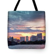 Dawn On The Charles River Tote Bag by Susan Cole Kelly