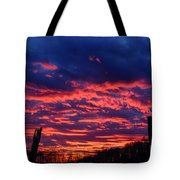 Dawn On The Farm Tote Bag