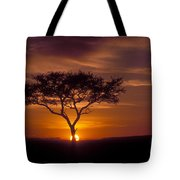 Dawn On The Masai Mara Tote Bag