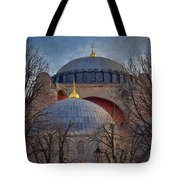 Dawn Over Hagia Sophia Tote Bag by Joan Carroll