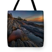 Dawn Over Pemaquid Point Tote Bag