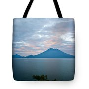 Dawn Over The Volcano 4 Tote Bag