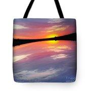 Dawn Sky And Water Tote Bag