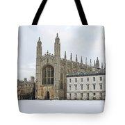 Dawn Sunshine Hit Kings College Chapel On Christmas Eve. Tote Bag