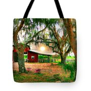 Dawning At The Barn Tote Bag