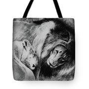 Dawn's A Coming Open Your Eyes - Lions Tote Bag