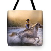 Dawn's Misty Waters Tote Bag