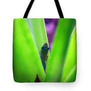 Day Gecko And Pineapple Plant Tote Bag