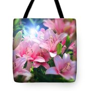Day Light Lilies Tote Bag