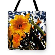 Day Lilies In  Space Tote Bag
