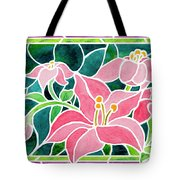 Day Lilies In Stained Glass Tote Bag