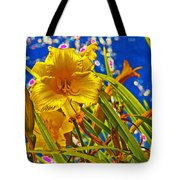 Day Lilies In The Sky With Diamonds  Tote Bag