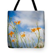 Day Lilies Look To The Sky Tote Bag