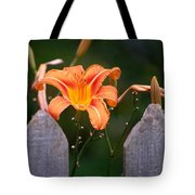 Day Lilly Fenced In Tote Bag