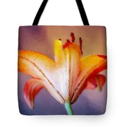 Day Lily Back Tote Bag