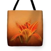 Day Lily Emerging Tote Bag