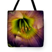 Day Lily In Purple Tote Bag