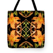 Day Lily Square Dance Tote Bag