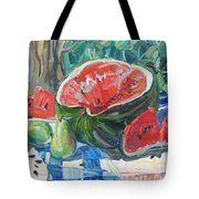 Day Of A Water-melon Tote Bag