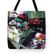 Day Of The Dead Car Trunk Skeleton  Tote Bag