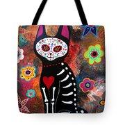 Day Of The Dead Cat El Gato Tote Bag
